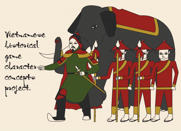 Vietnamese historical game character concepts project.