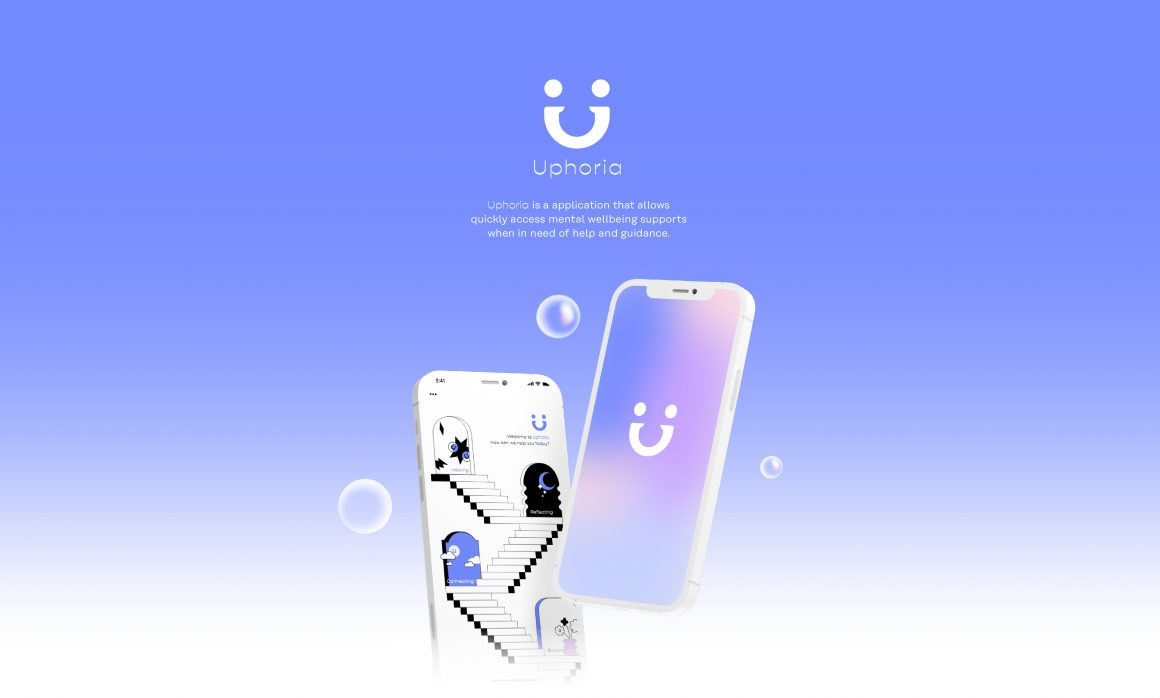 Visual identity and Mobile application for UPHORIA – a mental health organization for the youth